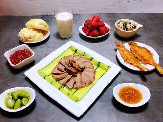 卤猪舌,好丰盛的早餐即营养丰富有大大的满足了味蕾噢