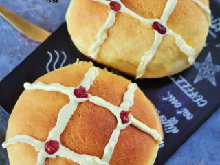 网红奶昔面包,成品。