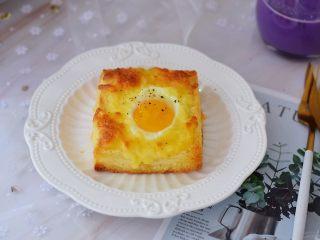 鸡蛋芝士爆浆吐司,成品图