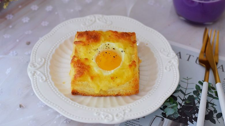 鸡蛋芝士爆浆吐司