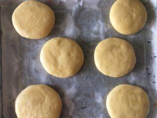 乳山喜饼,入烤盘,最好是平底烤盘,这样烤出来的比较平,好看一些