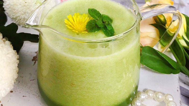 属于春天的果汁~羊角蜜香梨汁,又漂亮又好喝还健康