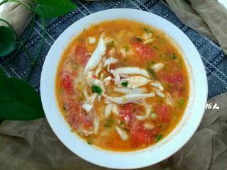 银鱼西红柿汤,成品图,味道鲜美极了