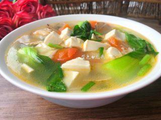 豆腐杂烩汤,成品图二