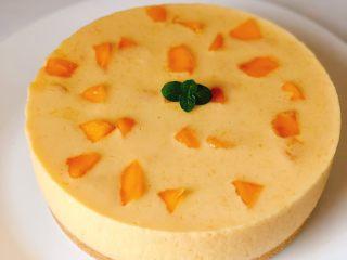 免烤❗️芒果酸奶蛋糕,美美哒芒果慕斯就做好啦!