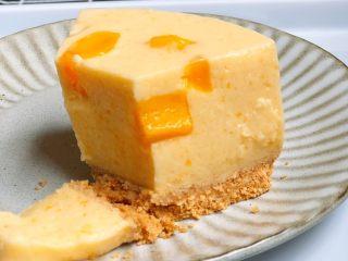 免烤❗️芒果酸奶蛋糕,很Q很好吃😋!