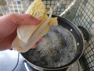 虾滑娃娃菜,放入娃娃菜煮2分钟,以便入味。