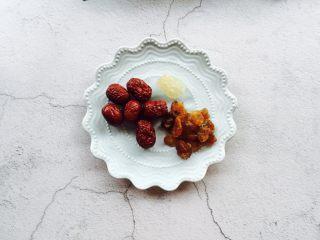 红枣桂圆小米粥,红枣、桂圆、黄冰糖