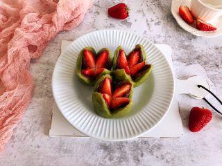 抹茶草莓大福,成品
