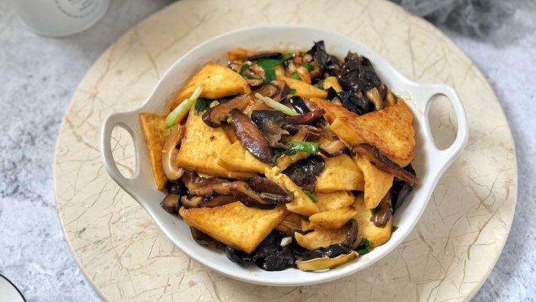 黑木耳香菇烧豆腐
