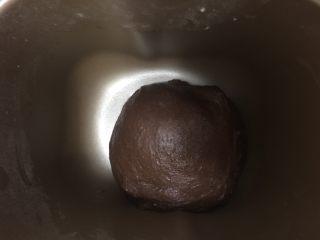 可可麻薯软欧,揉至面团光滑开启发酵程序