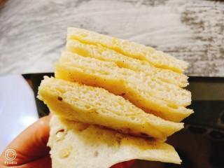 蒸麻子油葱花饼,切块,层次分明,香味扑鼻