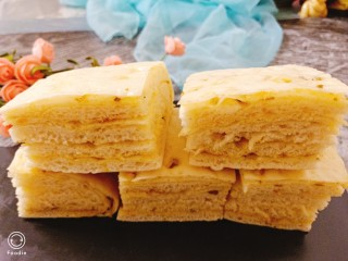 蒸麻子油葱花饼,成品图