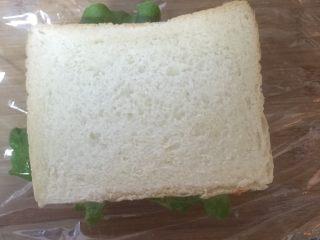 豪华三明治,盖在最上面