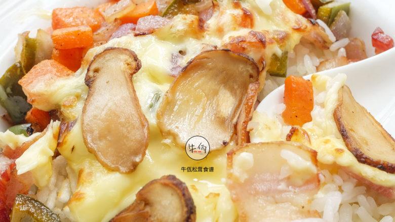 视频|松茸芝士焗饭|牛佤松茸食谱