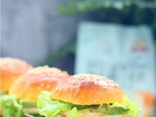 南瓜小餐包,快手小汉堡就做好了。