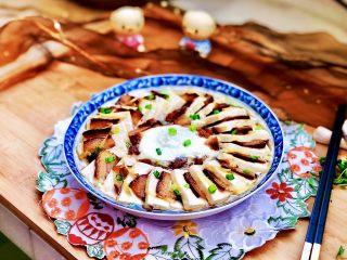 红白相间鲜上鲜➕酱肉蒸卤水豆腐,成品