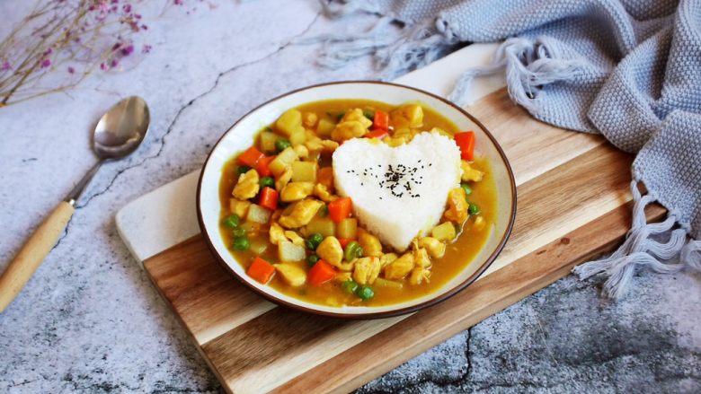 咖喱土豆鸡丁饭