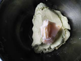 鱼松咸蛋黄馅青团,加入猪油