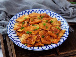 蚝油酱汁杏鲍菇,成品图