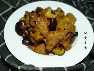 油豆腐炖香菇,成品图