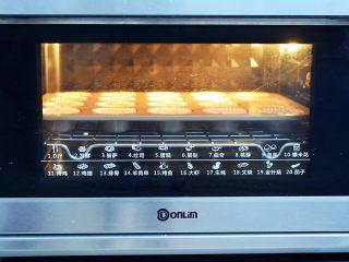 酸奶小蛋糕,放入预热好的烤箱,上下火150度,中层烘烤20分钟左右,出炉后把小蛋糕从模具取出放置晾网上晾凉