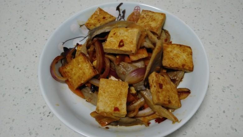 麻辣豆腐炒平菇