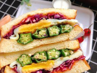 蔬菜三明治,色彩丰富啊!