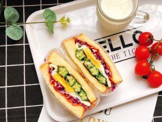 蔬菜三明治,美美的元气早餐