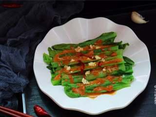 麻酱淋油麦菜