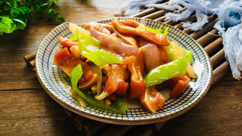 青椒洋葱炒猪耳