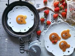 小熊酸奶软饼,这些面糊我做了14个小熊。