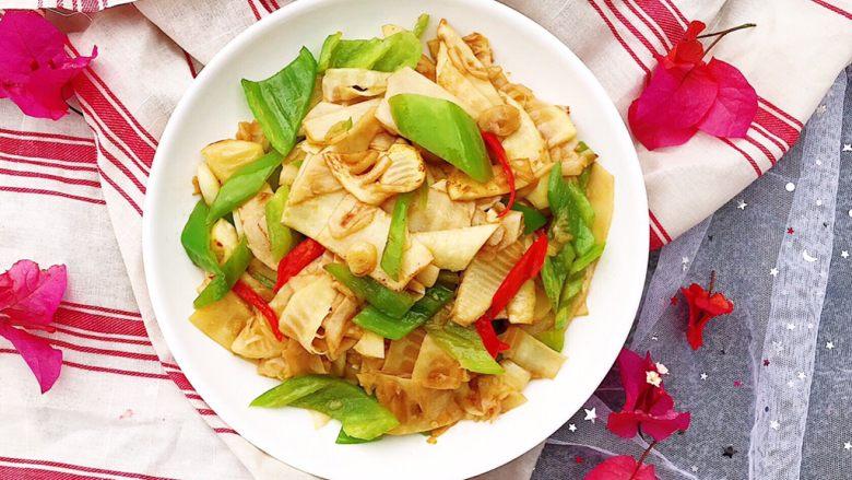 青椒炒笋片