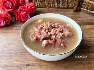 红豆薏米排骨汤,成品图三