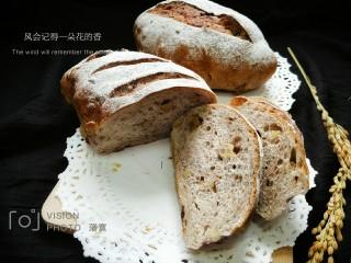 全麦葡萄干核桃面包