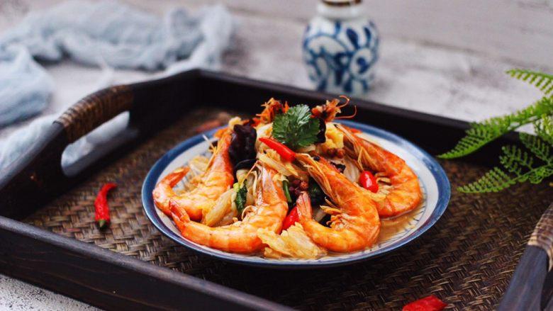 海虾木耳炒白菜