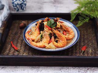 海虾木耳炒白菜,成品一