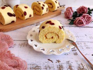 蔓越莓蛋糕卷,成品