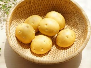 土豆造型豆沙包(馒头),好吃有趣的发芽土豆包。