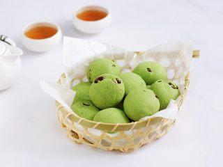 抹茶蔓越莓麻薯