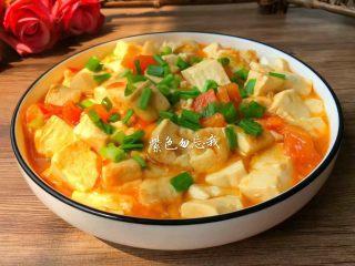 番茄烧豆腐,成品图二