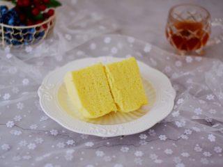 原味蒸蛋糕,成品图