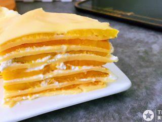 千层芒果蛋糕,切开享用^_^