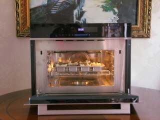 吐司披萨盏,美的蒸烤箱190度预热。