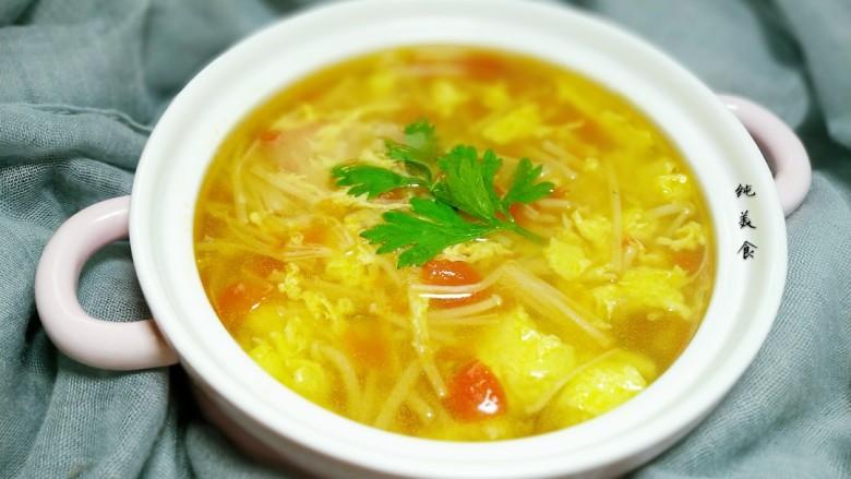 金针番茄蛋汤