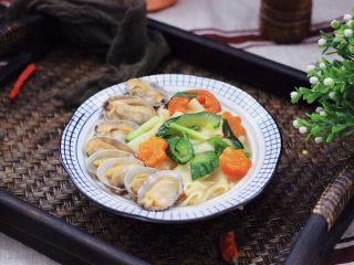 花蛤时蔬面,怎么吃都吃不够的面面。