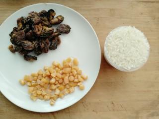 牡蛎干贝砂锅粥,准备材料