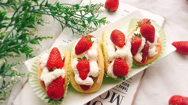 草莓抱抱卷+春天的味道,成品图