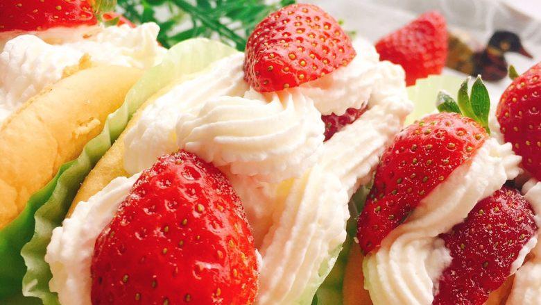草莓抱抱卷+春天的味道,好吃看的见