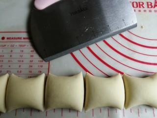 红薯馒头,切成均等份